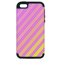 Pink and yellow elegant design Apple iPhone 5 Hardshell Case (PC+Silicone)