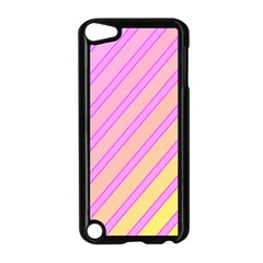 Pink and yellow elegant design Apple iPod Touch 5 Case (Black)