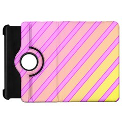 Pink and yellow elegant design Kindle Fire HD Flip 360 Case