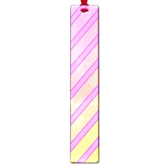 Pink and yellow elegant design Large Book Marks