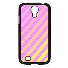 Pink and yellow elegant design Samsung Galaxy S4 I9500/ I9505 Case (Black)