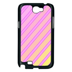 Pink and yellow elegant design Samsung Galaxy Note 2 Case (Black)