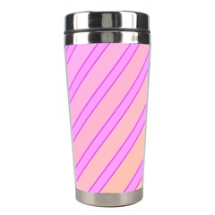 Pink and yellow elegant design Stainless Steel Travel Tumblers