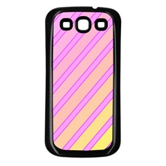 Pink and yellow elegant design Samsung Galaxy S3 Back Case (Black)