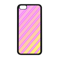 Pink and yellow elegant design Apple iPhone 5C Seamless Case (Black)