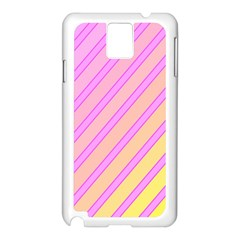 Pink and yellow elegant design Samsung Galaxy Note 3 N9005 Case (White)