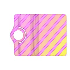 Pink and yellow elegant design Kindle Fire HD (2013) Flip 360 Case