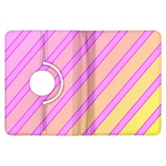 Pink and yellow elegant design Kindle Fire HDX Flip 360 Case