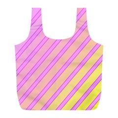 Pink and yellow elegant design Full Print Recycle Bags (L)