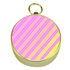 Pink and yellow elegant design Gold Compasses