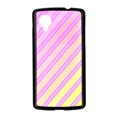 Pink and yellow elegant design Nexus 5 Case (Black)