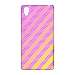 Pink and yellow elegant design Sony Xperia Z2
