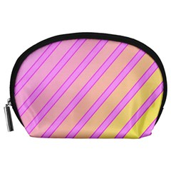 Pink and yellow elegant design Accessory Pouches (Large)