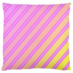Pink and yellow elegant design Large Flano Cushion Case (Two Sides)