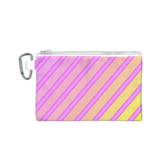 Pink and yellow elegant design Canvas Cosmetic Bag (S)