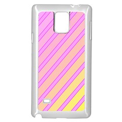 Pink and yellow elegant design Samsung Galaxy Note 4 Case (White)
