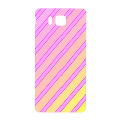 Pink and yellow elegant design Samsung Galaxy Alpha Hardshell Back Case