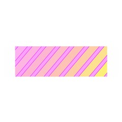 Pink and yellow elegant design Satin Scarf (Oblong)