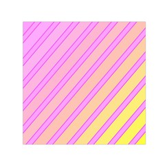 Pink and yellow elegant design Small Satin Scarf (Square)