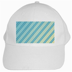 Blue elegant lines White Cap