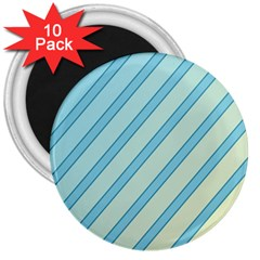 Blue elegant lines 3  Magnets (10 pack)