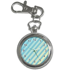Blue elegant lines Key Chain Watches