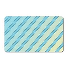 Blue elegant lines Magnet (Rectangular)