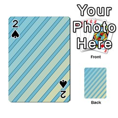 Blue elegant lines Playing Cards 54 Designs