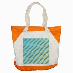 Blue elegant lines Accent Tote Bag