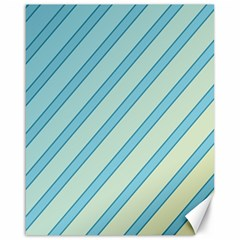 Blue elegant lines Canvas 16  x 20