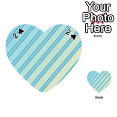 Blue elegant lines Playing Cards 54 (Heart)