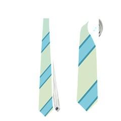 Blue elegant lines Neckties (One Side)