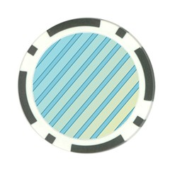 Blue elegant lines Poker Chip Card Guards