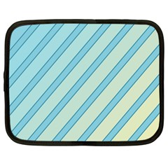 Blue elegant lines Netbook Case (Large)