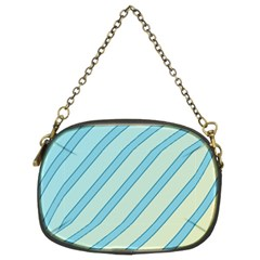 Blue elegant lines Chain Purses (Two Sides)