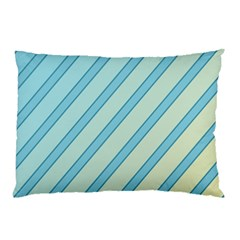 Blue elegant lines Pillow Case
