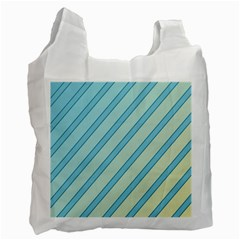 Blue elegant lines Recycle Bag (Two Side)