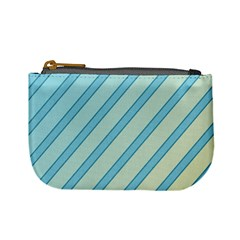 Blue elegant lines Mini Coin Purses