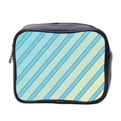 Blue elegant lines Mini Toiletries Bag 2-Side