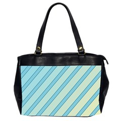 Blue elegant lines Office Handbags (2 Sides)
