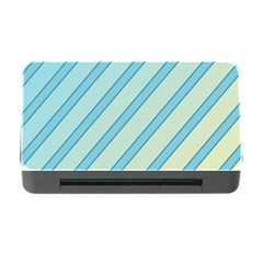 Blue elegant lines Memory Card Reader with CF