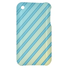 Blue elegant lines Apple iPhone 3G/3GS Hardshell Case