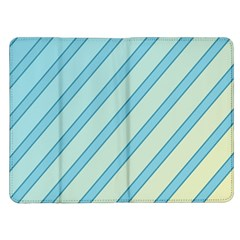 Blue elegant lines Kindle Fire (1st Gen) Flip Case