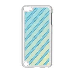 Blue elegant lines Apple iPod Touch 5 Case (White)