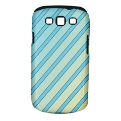 Blue elegant lines Samsung Galaxy S III Classic Hardshell Case (PC+Silicone)