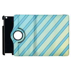 Blue elegant lines Apple iPad 2 Flip 360 Case