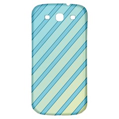 Blue elegant lines Samsung Galaxy S3 S III Classic Hardshell Back Case