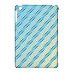 Blue elegant lines Apple iPad Mini Hardshell Case (Compatible with Smart Cover)