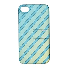 Blue elegant lines Apple iPhone 4/4S Hardshell Case with Stand