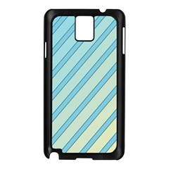 Blue elegant lines Samsung Galaxy Note 3 N9005 Case (Black)